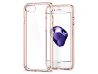 Husa plastic Apple iPhone 7 Spigen Ultra Hybrid2 042CS20924 Roz Transparenta Blister Originala