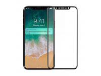 Folie Protectie ecran Apple iPhone X AMA Tempered Glass Full Cover 5D Neagra Blister