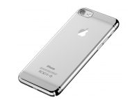 Husa silicon TPU Apple iPhone 7 Devia Glimmer2 Argintie Transparenta Blister Originala