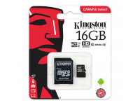 Card memorie Kingston Canvas MicroSDHC 16GB UHS-I U1 SDCS/16GB Blister