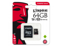 Card memorie Kingston Canvas MicroSDXC 64GB UHS-I U1 SDXC/64GB Blister