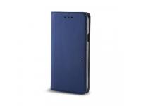 Husa Piele Sony Xperia XZ1 Compact Case Smart Magnet Bleumarin