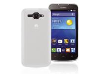 Husa silicon TPU + Folie Ecran Plastic Phonix Pentru Huawei Ascend Y540 Alba Mata Blister HU540GPW