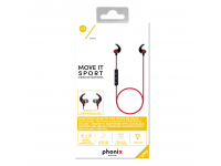 Handsfree Bluetooth Sport Phonix PBTSERB Rosu Negru Blister Original
