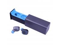 Handsfree Bluetooth Phonix EarBuds Twins Gri Albastru Blister Original