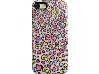 Husa silicon Apple iPhone 7 Star Hearts Roz