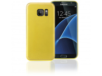 Husa silicon TPU + Folie Ecran Plastic Phonix Pentru Samsung Galaxy S7 edge G935 Galbena Blister SS7EGPD