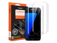 Set Folie Protectie ecran Samsung Galaxy S7 edge G935 Spigen Full Face (2 bucati) Original