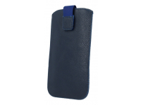 Husa piele GreenGo SlimUp Mono 5XL pentru telefon 5.5 inci, Dimensiuni interioare 159 x 74 mm, Bleumarin, Blister