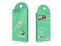 Adaptor USB Type-C - MicroUSB HOCO UA8 Argintiu Blister Original