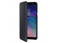 Husa Piele Samsung Galaxy A6+ (2018) A605 Flip Wallet EF-WA605CBEGWW Blister Originala