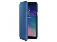 Husa Piele Samsung Galaxy A6 (2018) A600 Flip Wallet EF-WA600CLEGWW Albastra Blister Originala