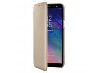 Husa Piele Samsung Galaxy A6 (2018) A600 Flip Wallet EF-WA600CFEGWW Aurie Blister Originala