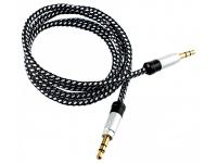 Cablu audio Jack 3.5 mm Tata - Tata Tellur 1m Argintiu Blister Original