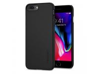 Husa Plastic Spigen Thin Fit Pentru Apple iPhone 7 Plus / Apple iPhone 8 Plus Neagra, Blister 055CS22238