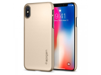 Husa Plastic Spigen Thin Fit Pentru Apple iPhone X, Aurie, Blister 057CS22111