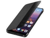 Husa Huawei P20, Smart View Flip, Neagra, Blister 51992399