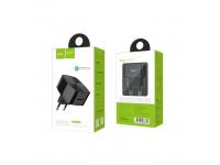Incarcator Retea USB HOCO, C26, QC 3.0, 1 X USB, Negru, Blister