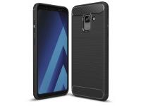 Husa TPU OEM Carbon Pentru Samsung Galaxy A8+ (2018) A730, Neagra, Bulk