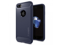 Husa TPU Spigen Rugged Armor pentru Apple iPhone 7 / Apple iPhone 8, Bleumarin, Blister 042CS21188