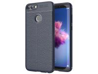 Husa TPU OEM Litchi pentru Huawei P smart, Bleumarin, Bulk