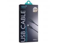 Cablu Date si Incarcare USB la MicroUSB Totu Design Steel Rope, 1 m, Negru, Blister