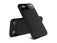 Husa TPU Lenuo LeJazz pentru Apple iPhone 7 / Apple iPhone 8, Neagra, Blister