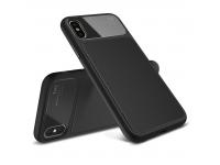 Husa TPU Lenuo LeJazz pentru Apple iPhone X, Neagra, Blister