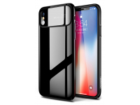 Husa Plastic Joyroom Ultra Slim pentru Apple iPhone X, Neagra, Blister