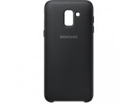 Husa Plastic Samsung Galaxy J6 J600, Dual Layer, Neagra, Blister EF-PJ600CBEGWW