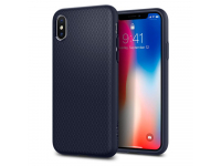 Husa Silicon Spigen 057CS22124 pentru Apple iPhone X, Bleumarin, Blister
