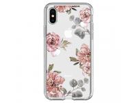Husa TPU Spigen pentru Apple iPhone X, Liquid Crystal aqarelle, Multicolor, Blister 057CS22623