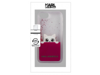 Husa Plastic Karl Lagerfeld Liquid pentru Apple iPhone 7 / Apple iPhone 8, Roz, Blister KLHCI8PABGFU
