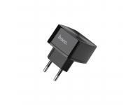 Incarcator Retea USB HOCO C26A, 2 X USB, Negru, Blister