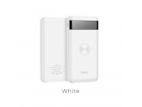 Baterie externa Powerbank cu incarcare wireless HOCO Astute J11 cu afisaj, 10000mAh Alba Blister