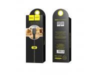 Cablu Date si Incarcare USB la MicroUSB HOCO Flash X20, 1 m, Negru, Blister