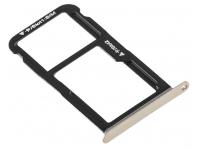 Suport Card - Suport SIM Auriu Huawei P10 Lite