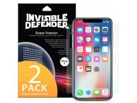 Folie Protectie Ecran Ringke pentru Apple iPhone X, Plastic, Full Face, Set 2 buc, Blister