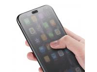 Husa Baseus Touchable Tempered Glass pentru Apple iPhone X, Neagra, Blister
