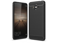 Husa TPU OEM Carbon pentru Huawei Mate 10, Neagra, Bulk