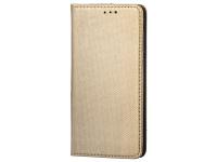 Husa Piele OEM Smart Magnet pentru HTC Desire 12, Aurie, Bulk
