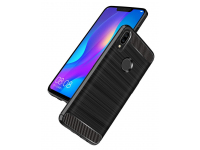 Husa TPU OEM Carbon pentru Huawei P smart Plus, Neagra, Bulk