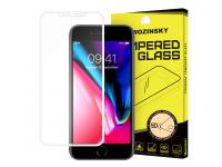 Folie Protectie Ecran WZK pentru Apple iPhone X, Sticla securizata, Full Face, Alba, Blister