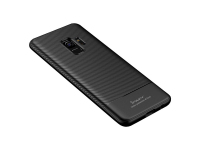 Husa TPU iPaky Carbon Fiber pentru Samsung Galaxy S9 G960, Neagra, Blister