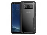 Husa Plastic - TPU iPaky Antisoc pentru Samsung Galaxy S9 G960, Neagra - Transparenta, Blister