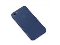 Husa Plastic Cafele Chiffon Ultra slim Matte pentru Apple iPhone 7 / Apple iPhone 8, Albastra, Blister