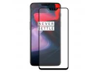 Folie Protectie Ecran Enkay pentru OnePlus 6, Sticla securizata, Full Face, 0.26mm, Neagra