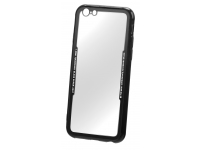 Husa TPU OEM Acrylic pentru Apple iPhone 7 Plus / Apple iPhone 8 Plus, Neagra - Transparenta, Bulk