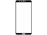 Folie Protectie Ecran OEM pentru Huawei Y9 (2018), Sticla securizata, Full Face, Neagra, Blister