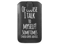 Husa Piele GreenGo Universala Talk to myself XXXXL pentru Telefon 5.5 inci, Neagra, Bulk